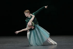 Paris Opera Ballet; Laëtitia Pujol and Karl Paquette in EMERALDS to music by Gabriel Fauré.